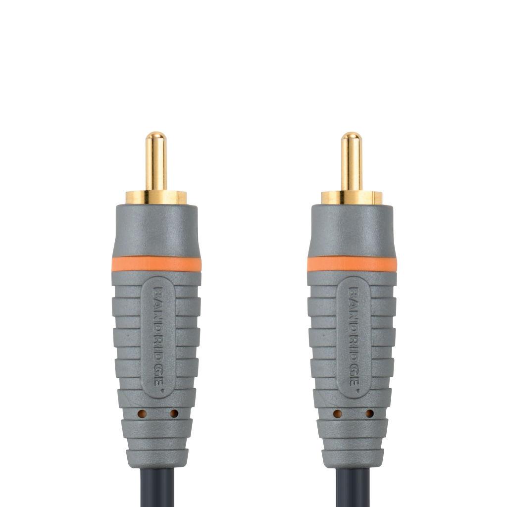 Bandridge BAL4801 CINCH digitální audio koax kabel, 1m