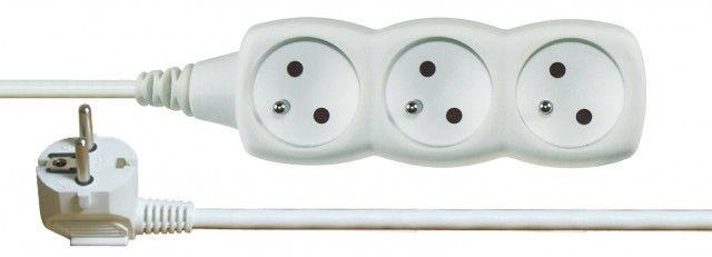 Emos P0311 - Prodlužovací kabel, 3 zásuvky, 1,5m (bílý)