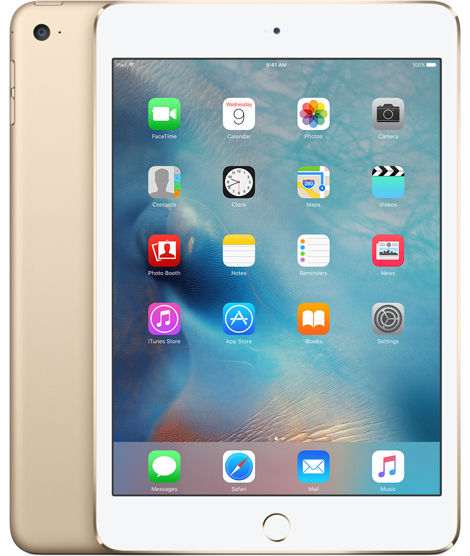 Apple iPad mini 4 Wi-Fi 16GB (zlatý) MK6L2FD/A