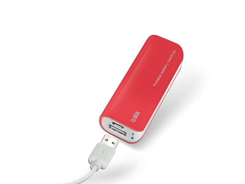 SBS Powerbanka 2200mAh (červená)