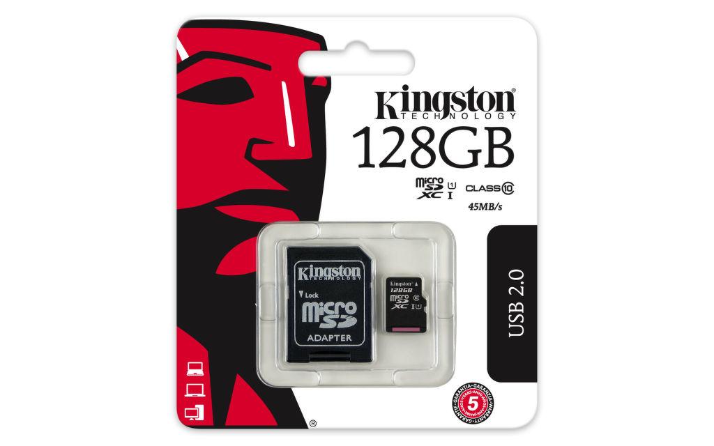 Kingston 128 GB Micro-SDXC UHS-I Class 10