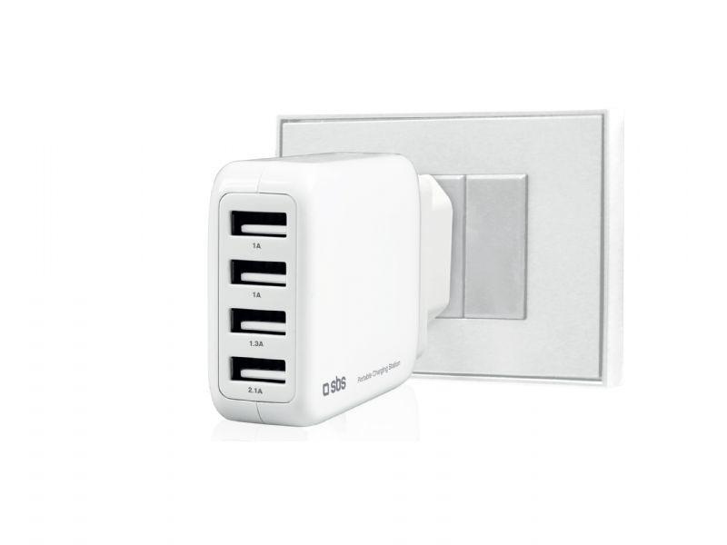 SBS nabíjecí stanice 4 x USB port (bílá)