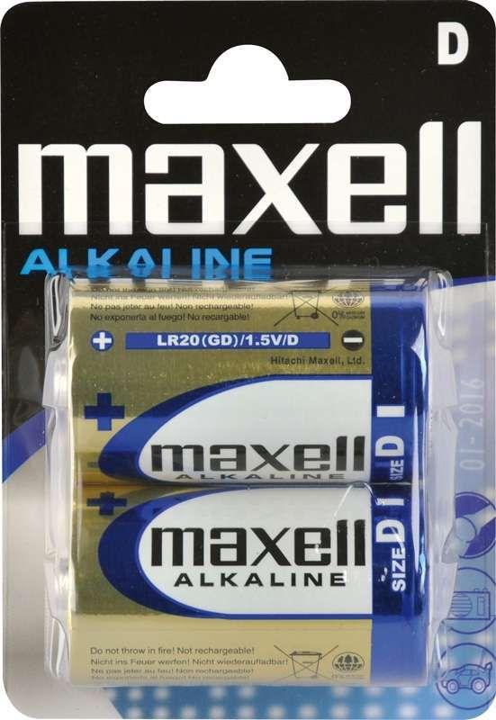 Maxell Alkaline D (LR20), 2ks