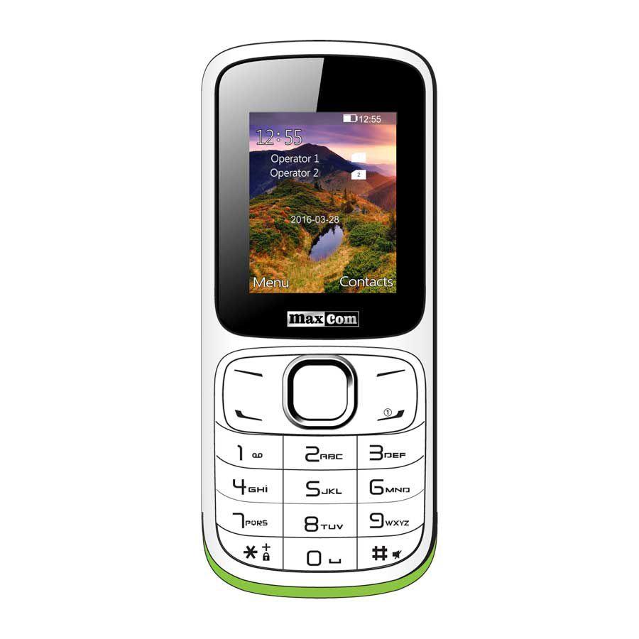 Maxcom MM129 Dual SIM bílý