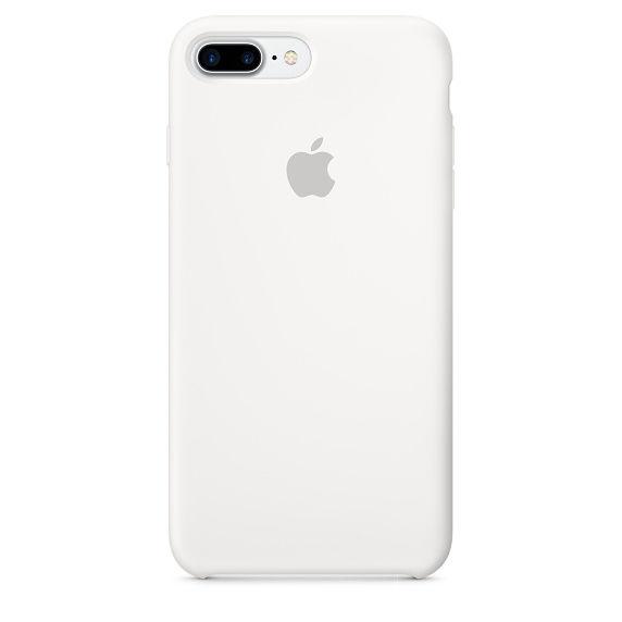 Apple silikonový kryt pro iPhone 7 Plus, bílý