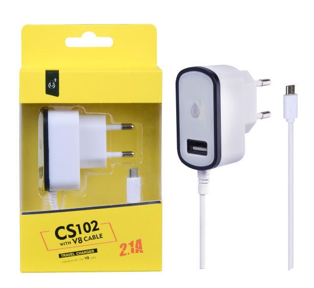 Aligator Plus CS102 Micro USB (bílo černá)