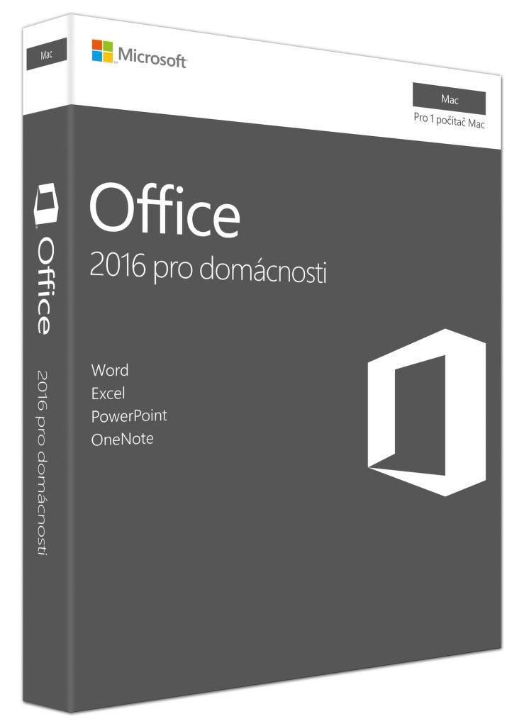 Microsoft Office 2016 pro Mac pro domácnosti