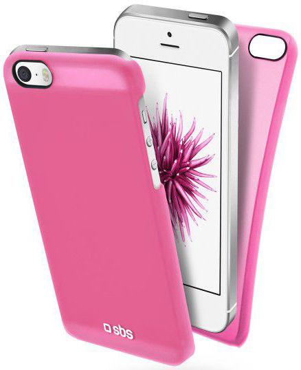SBS pouzdro pro iPhone SE/5/S, TEFEELIPSEP (růžové)