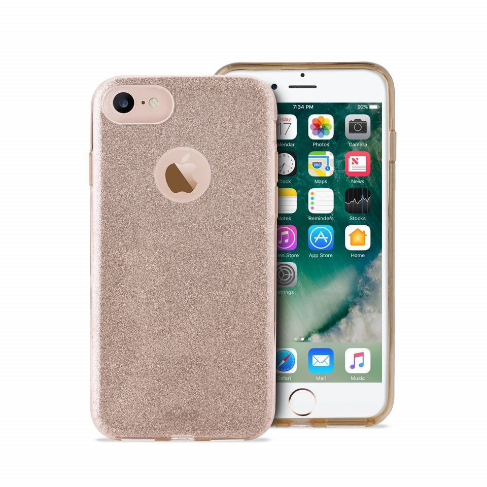 PURO Shine kryt pre Apple iPhone 7 (zlatá)