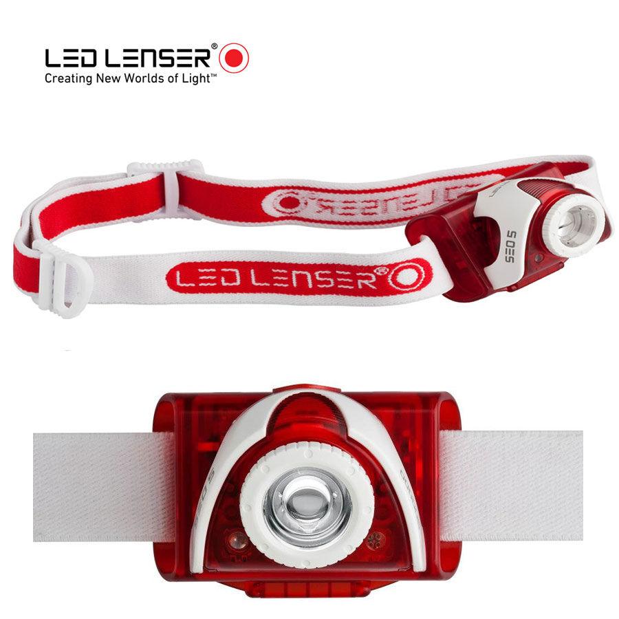 LED Lenser Seo 5 Red, LED čelovka