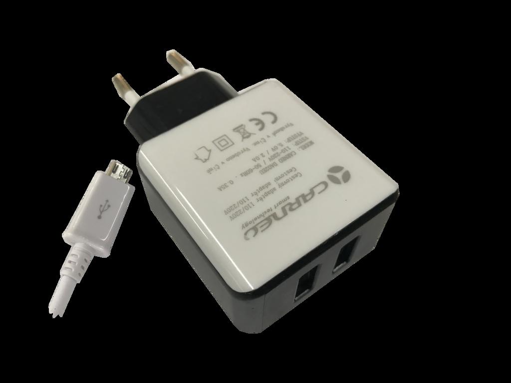 Carneo DA02EU + micro USB kábel 2A (mix barev)