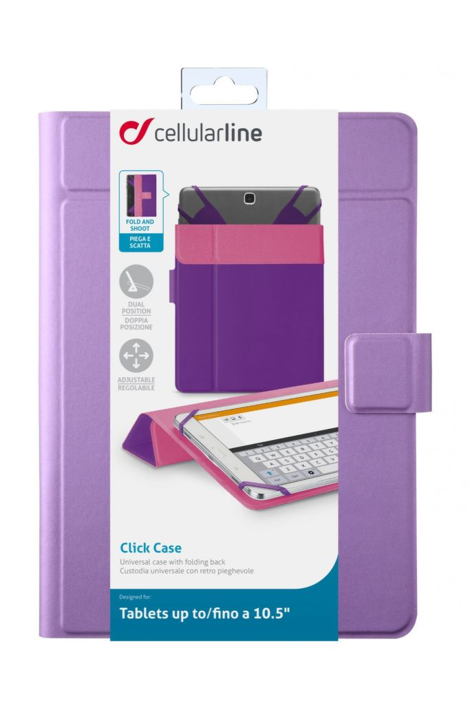 "CellularLine CLICK CASE 10,5"" (fialové)"