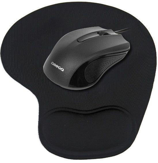 Omega OM-05 (černá) - Myš + podložka