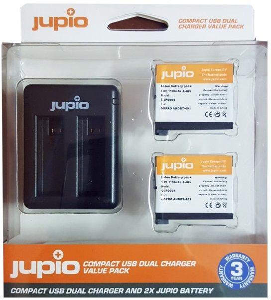 Jupio Set 2x baterie GoPro AHDBT-401 HERO4 1160 mAh + USB nabíječka