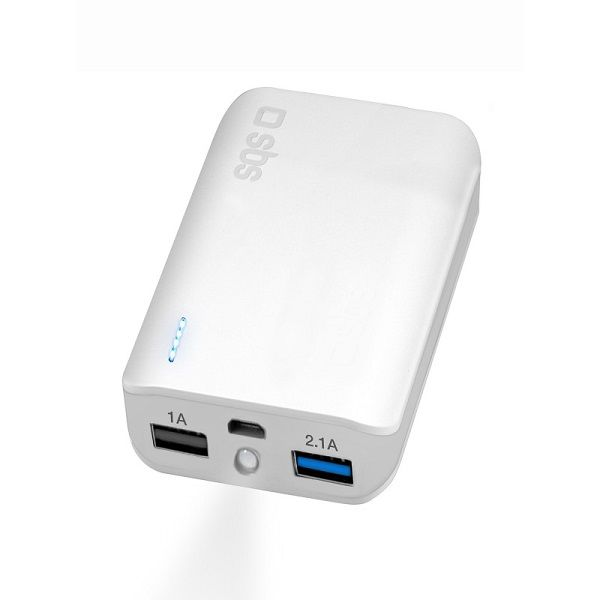 SBS Power Bank 10000 mAh bílá