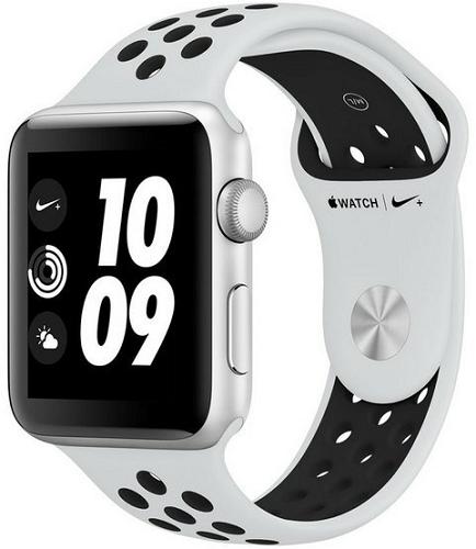 Apple Watch Series 3 Nike+ 42mm stříbrný hliník a platinový/černý sportovní řemínek Nike