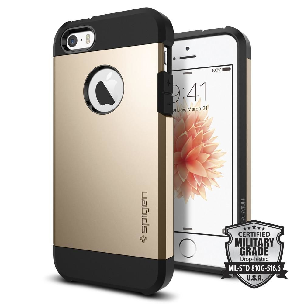 Spigen iPhone 5/5S/SE Case Tough Armor, zlatá
