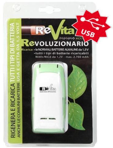 REVITA RV3, nabíječka alkalických baterií