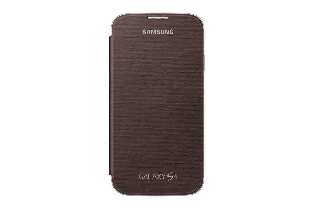 SAMSUNG flipové pouzdro EF-FI950BA pro Galaxy S4 (i9505) hnědé