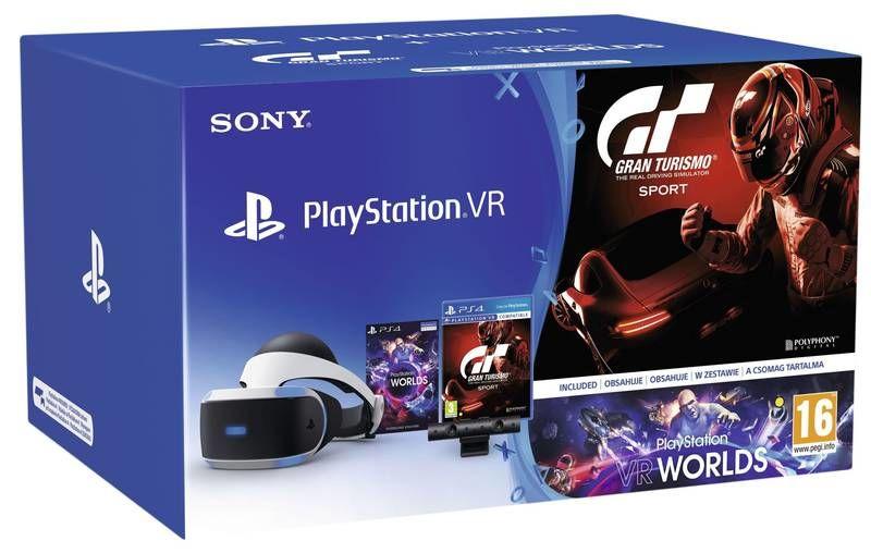Sony PlayStation VR + Kamera v2 + Gran Turismo Sport + VR Worlds + dárek Razer Thresher 7.1 pro PS4
