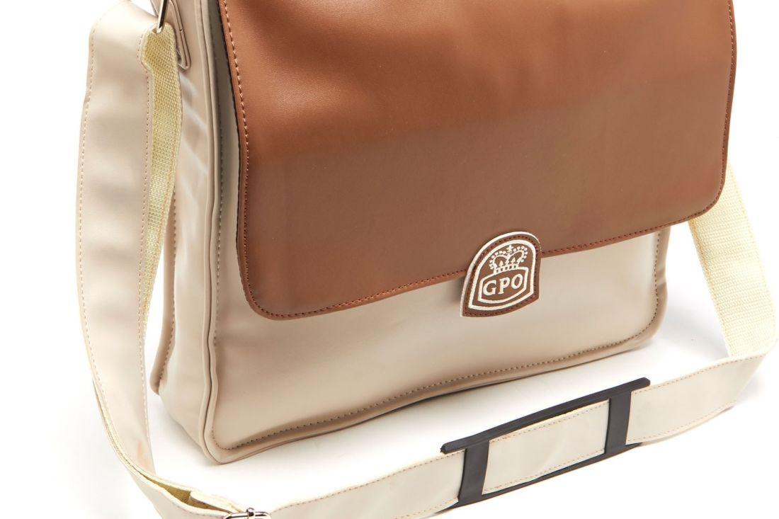 GPO Record Bag krémově hnědá taška na vinyl