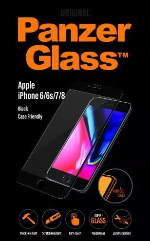 PanzerGlass tvrzené sklo pro iPhone 8/7/6/6s, černé