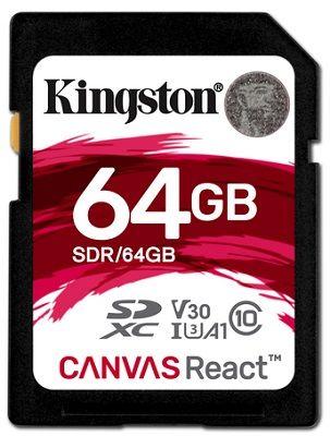 Kingston Canvas React SDXC U3 UHS-I 64 GB