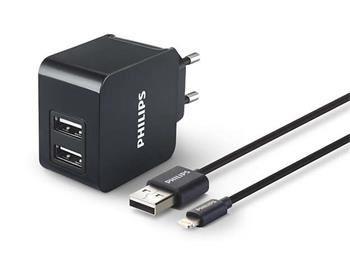 Philips DLP2307V/12 Lighthing-USB černá, nabíječka