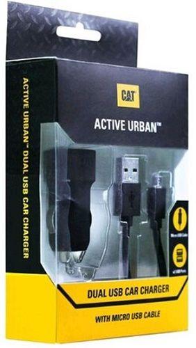 Catepillar Active Dual microUSB černá, autonabíječka