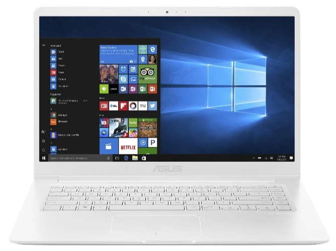 """Asus VivoBook X510UF BQ015T bílý + dárek Logo brašna na 15,6"""" notebook (černá), eScan Internet Security Suite Antivirový software na 90 dní, Yenkee YMS 002BK bezdrátová myš zdarma"""