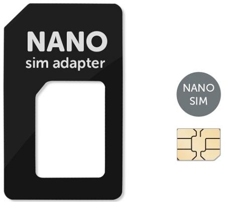 MobilNet Nano SIM adaptér (Nano SIM-SIM) (černý)