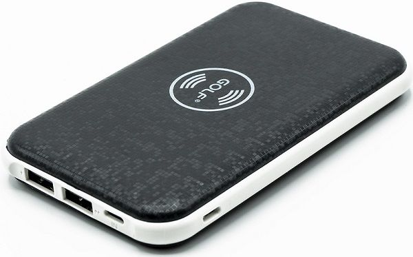 Gilf powerbanka s bezdrátovým nabíjením 5000 mAh, černá