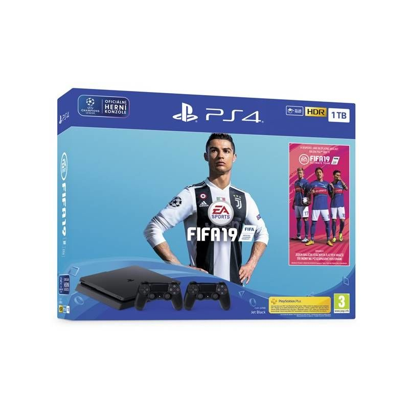 Sony PlayStation 4 Slim 1TB + druhý ovladač + FIFA 19