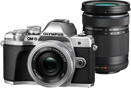 Olympus E-M10 Mark III + ED 14-42mm EZ + 40-150mm R, černo-stříbrná