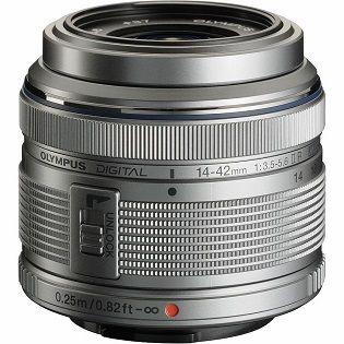 Olympus M. Zuiko Digital 14-42mm f/3,5-5,6 II R, stříbrná