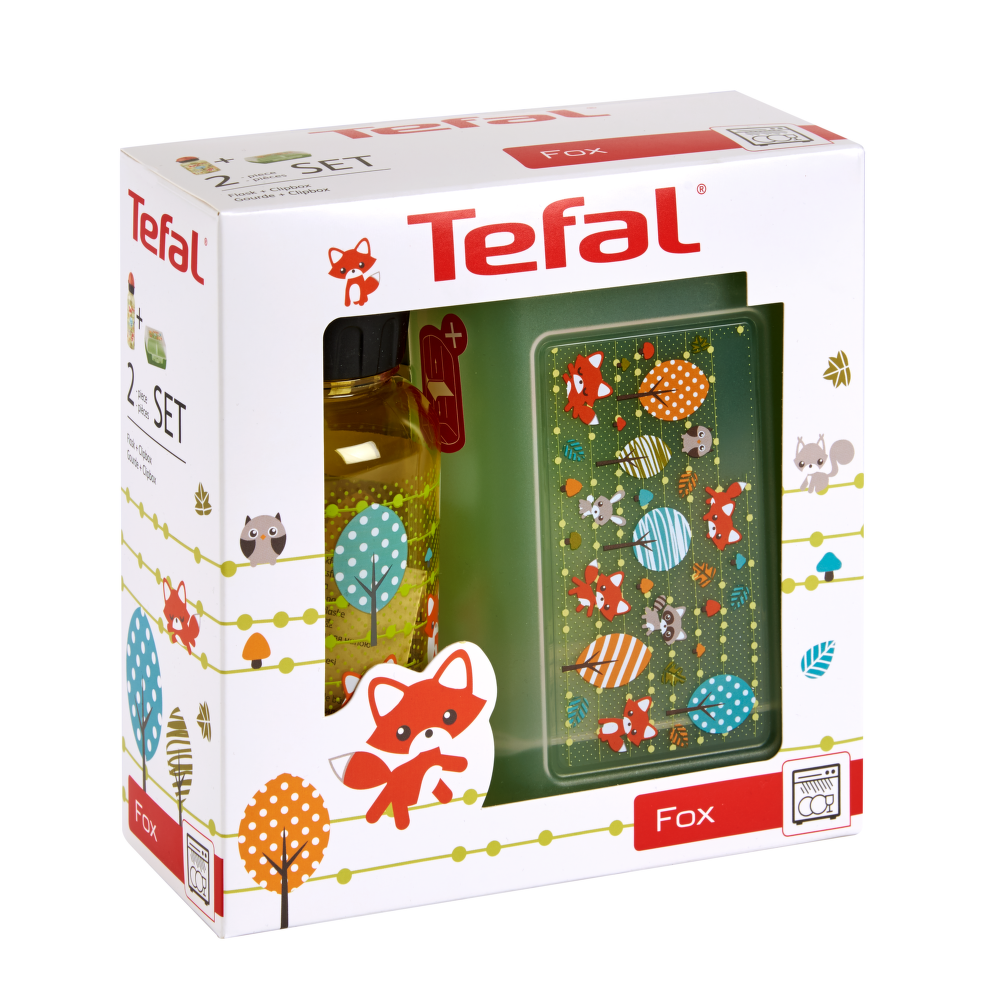 Tefal K3169414 Kids láhev (400ml) + box na jídlo