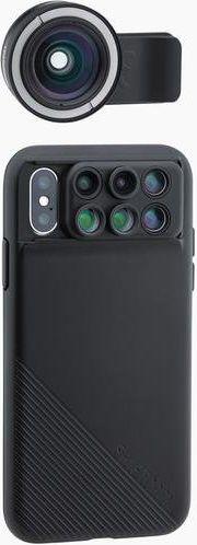 ShiftCam 2.0 Pro Lens + širokoúhlý objektiv Pro Lens pro iPhone X, černá