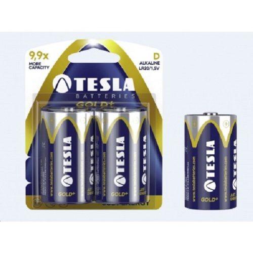 TESLA GOLD+ LR20 2ks, alkalická baterie