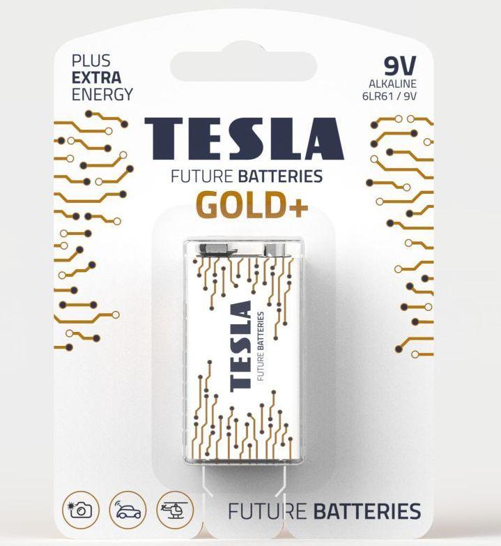 TESLA GOLD+ 9V 1ks, 9V baterie
