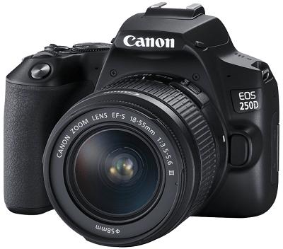 Canon EOS 250D + EF-S 18-55mm f/3.5-5.6 DC III, černý