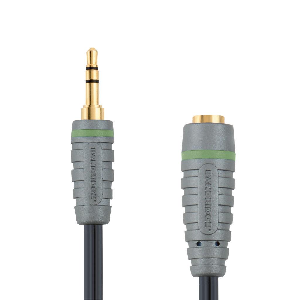 Bandridge BAL3601 audio kabel 3,5mm JACK konektor - JACK zdířka, 1m