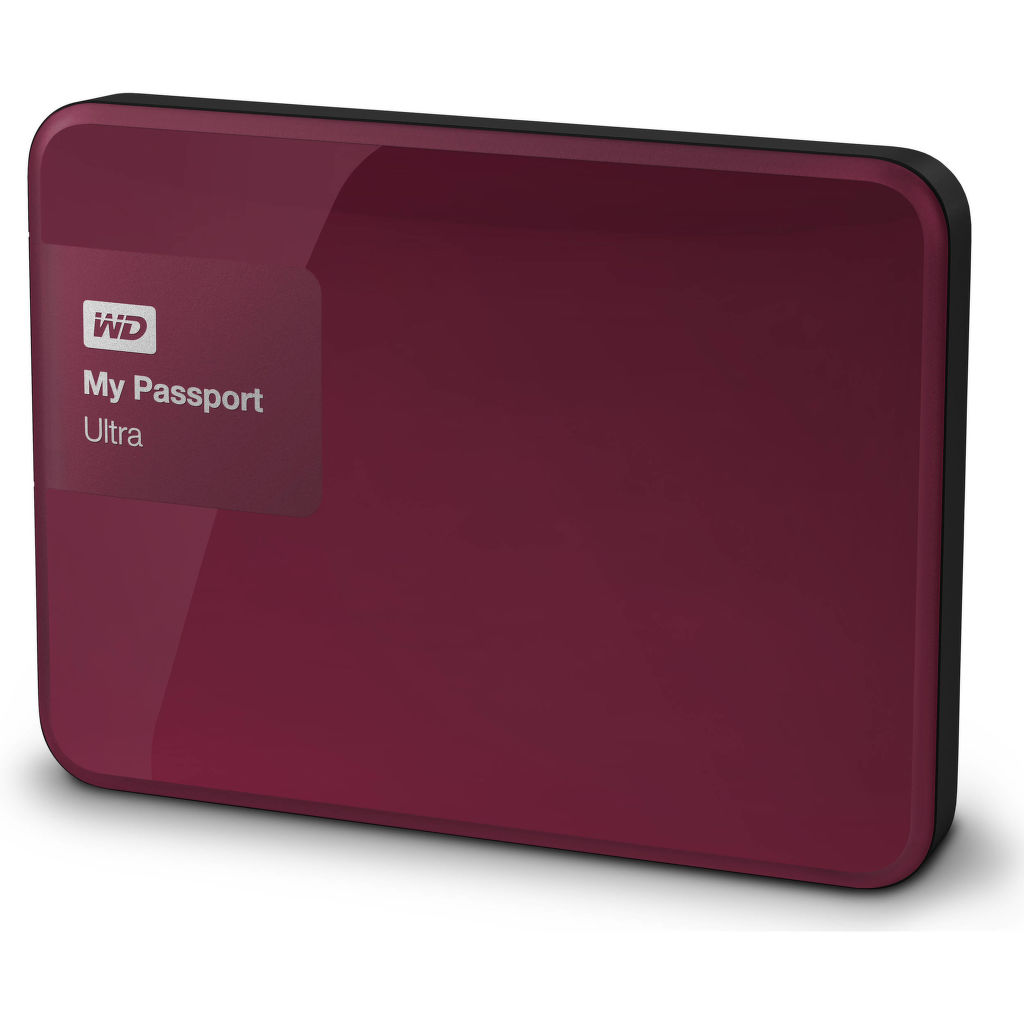 Western Digital MY PASSPORT ULTRA 1TB (vínová)