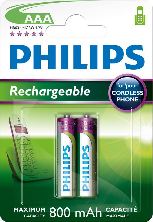 Philips MultiLife 800mAh AAA (HR03), 2ks
