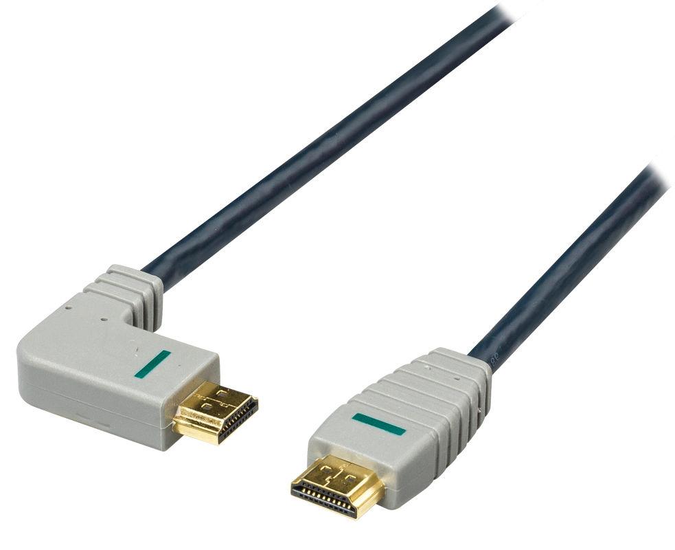 Bandridge BVL1402 - HDMI 1.4, levé ohnutí 90°, 2m