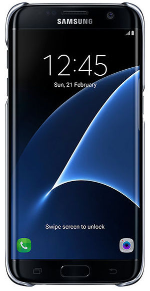 Samsung EF-QG935CB Clear kryt pro Galaxy S7 edge černý