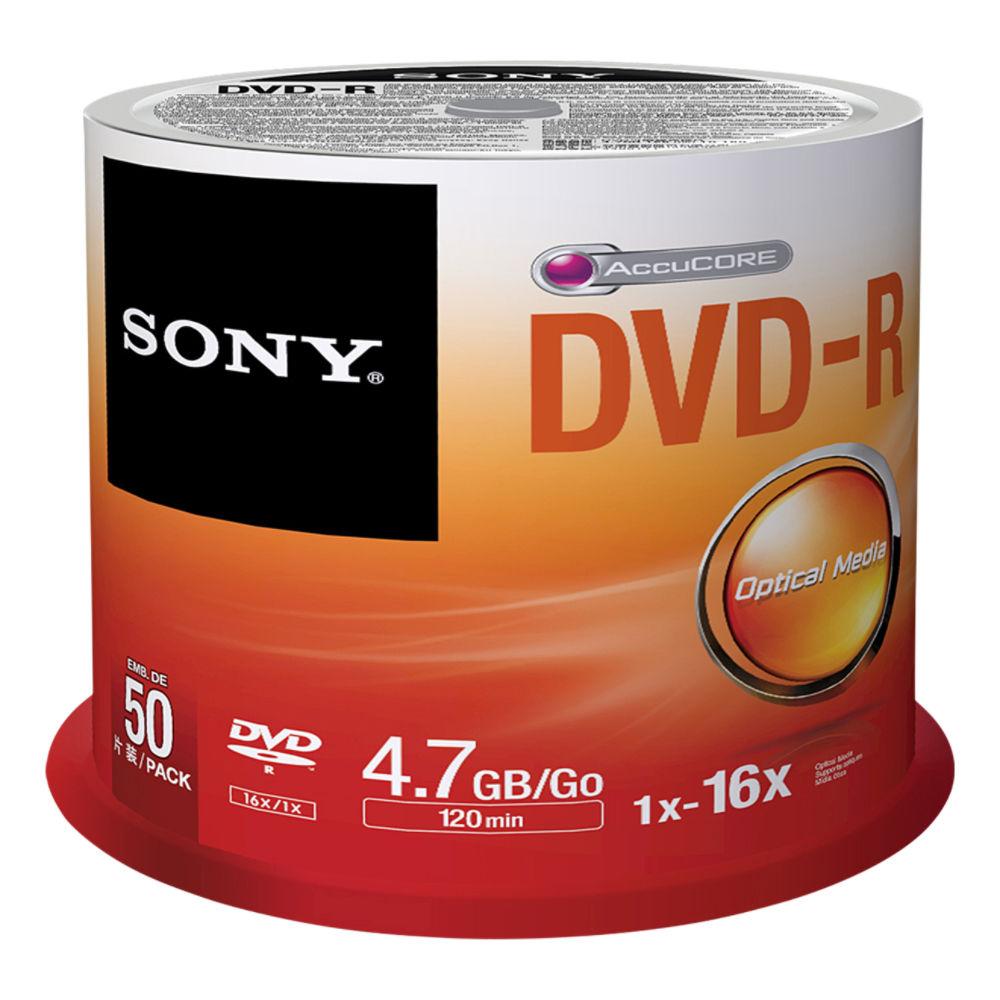 Sony DVD-R 4,7GB 16x, 50ks