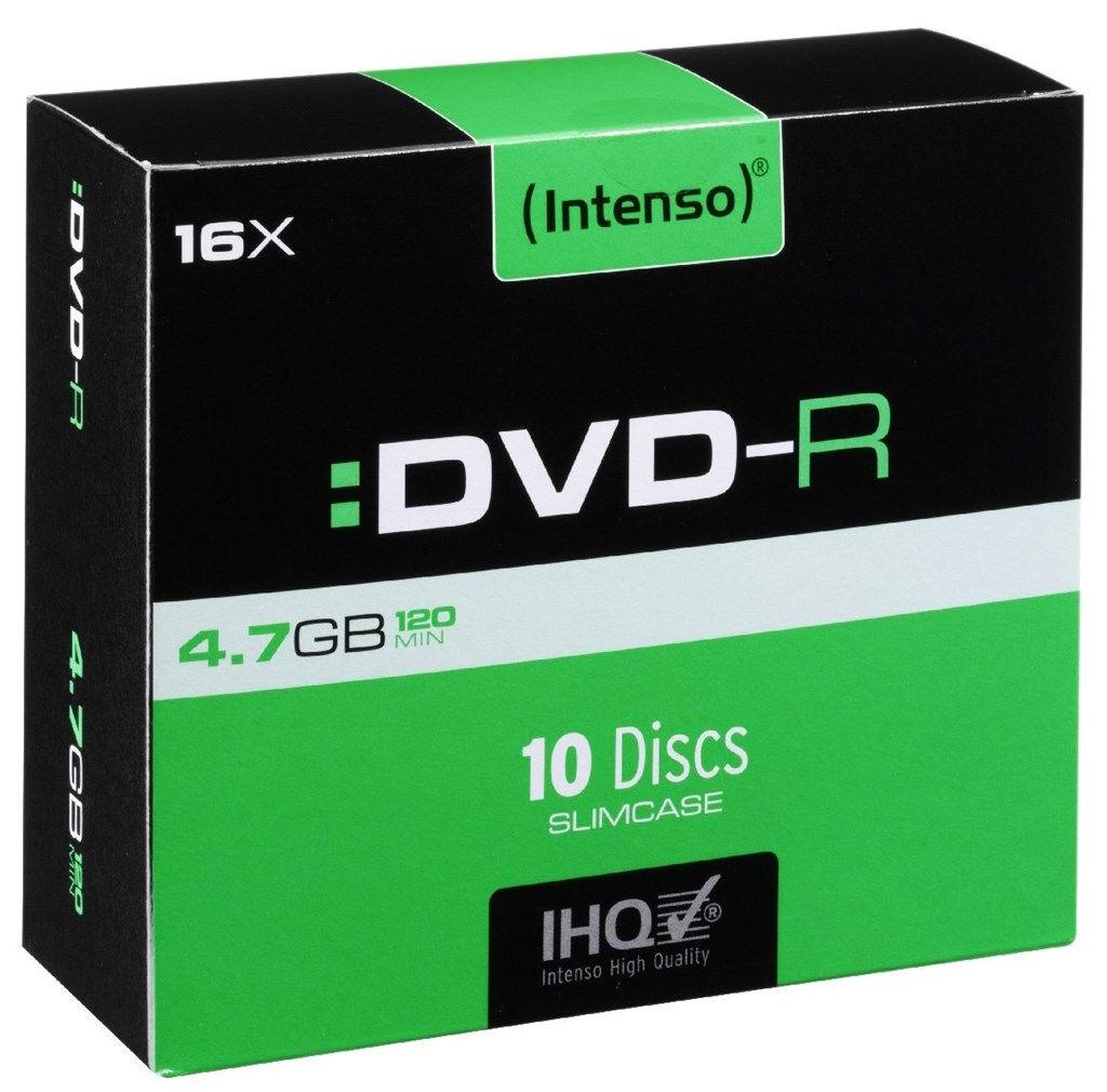 Intenso DVD-R, 4101652, 10-pack, 4.7GB, 16x, slim case