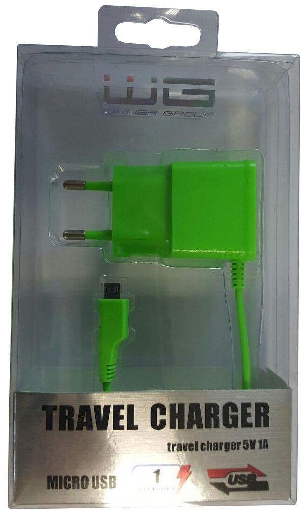 Winner síťová nabíječka Micro USB (zelená)