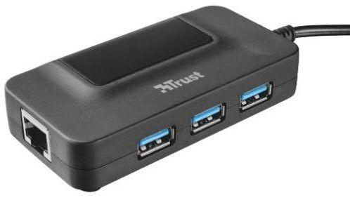 Trust Oila hub USB 3.0 s 3 porty + RJ45, 20789