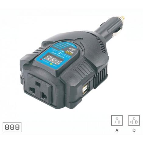Měnič napětí do auta 125W s USB (2x)
